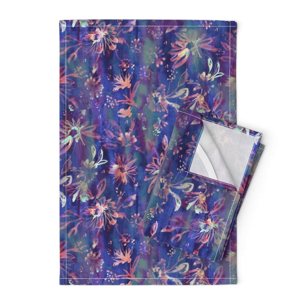 Orpington Tea Towels featuring Lovely floral passion by schatzibrown
