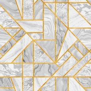 1920s gold and marble pattern. Art deco style. Gatsby pattern.  Geometric abstract seamless pattern. Japanese suminagashi  black and white ink.