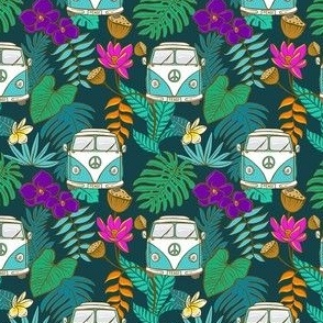 Tropical Kombi - Aqua and Teal - SMALL