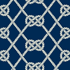 Carrick Fishnet Knot - Nautical Rope Pattern