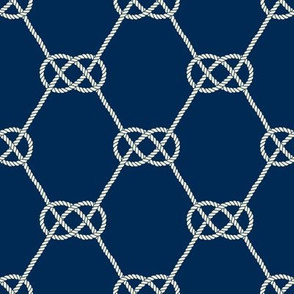 Carrick Bend Knot - Nautical Rope Pattern