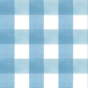 """Watercolor Blue Gingham - 1.5"""" Scale"""