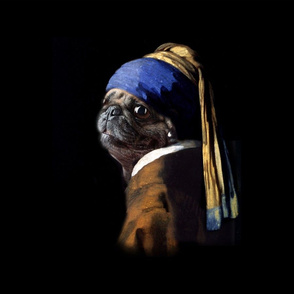 Vermeer Pug With A Pearl Earring