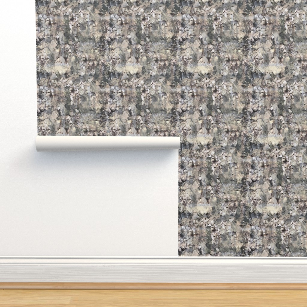 Isobar Durable Wallpaper featuring Fish Scales Khaki by tjrobertson