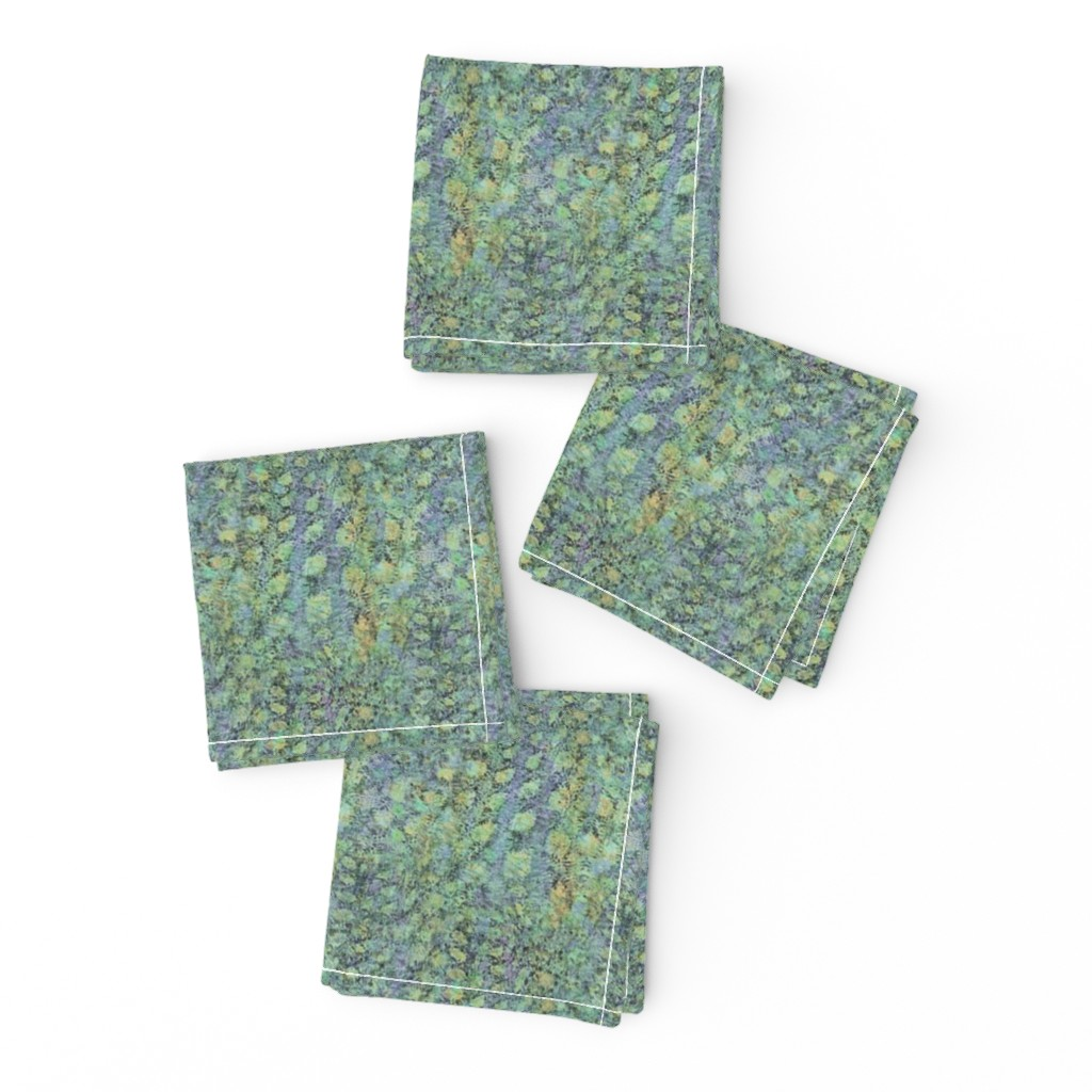 Frizzle Cocktail Napkins featuring field-aqua-yellow-lite by wren_leyland
