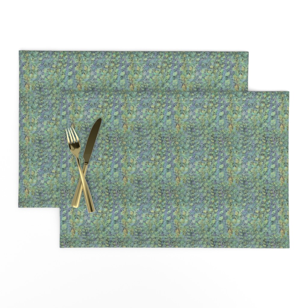 Lamona Cloth Placemats featuring field-aqua-yellow-lite by wren_leyland