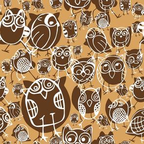 OWLS, MUSTARD, WHITE, BROWN