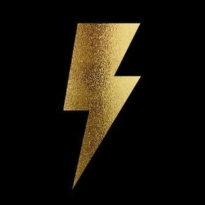 Bolt large scale, dark gold foil, lightening strike