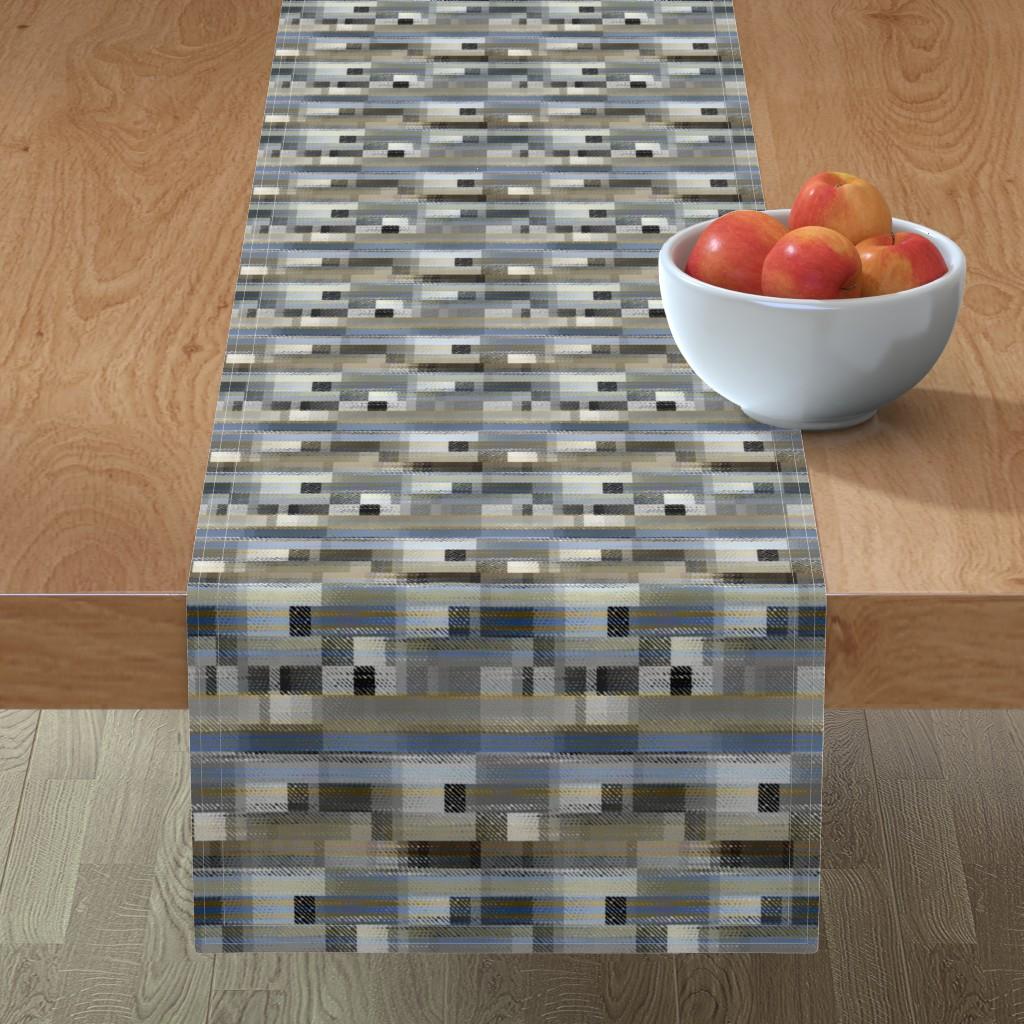 Minorca Table Runner featuring Aged linen Gauze Blocks by joanmclemore
