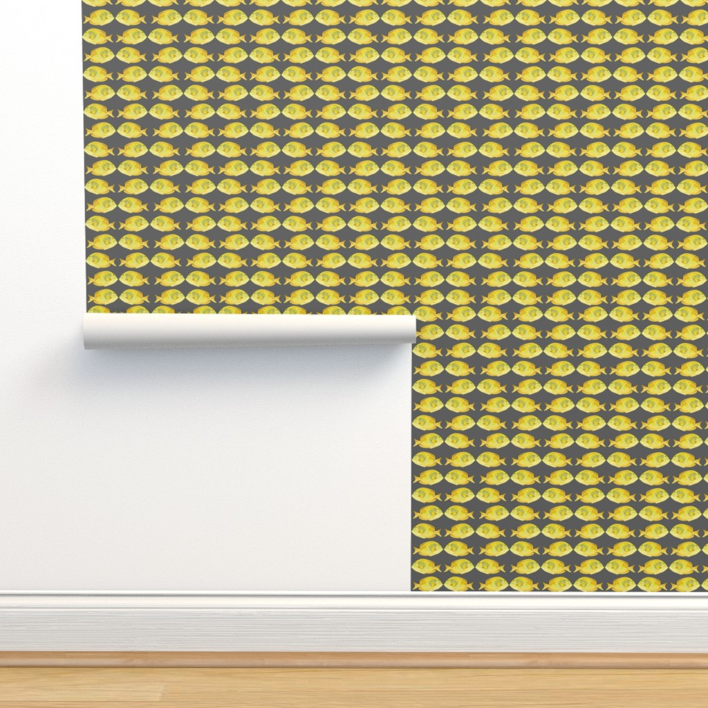 Isobar Durable Wallpaper featuring Sea of Love Yellow Tang by agregorydesigns