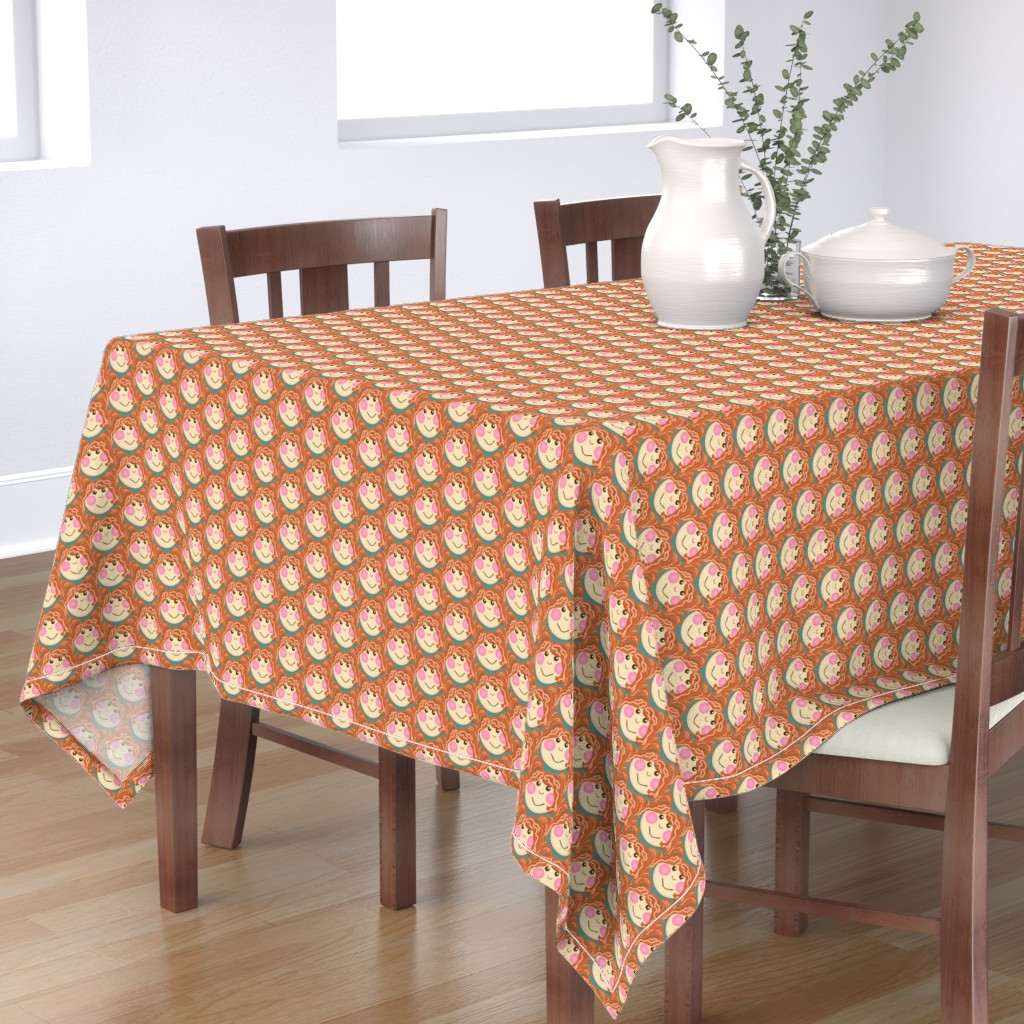 Bantam Rectangular Tablecloth featuring Silly Sally Sue / doll patch  by franbail