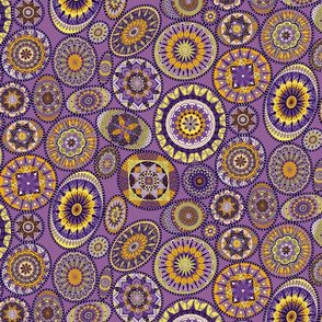 Purple and Gold Mandalas