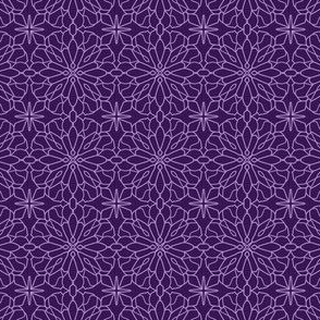 Geometric Lace - ultra violet - small scale