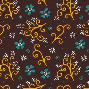 Tropical flower collaborative pattern | 1