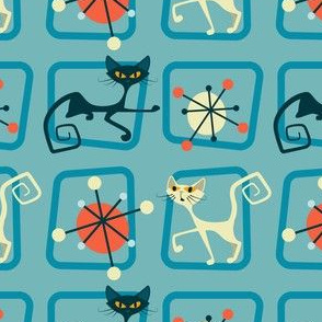 Atomic cats in squares