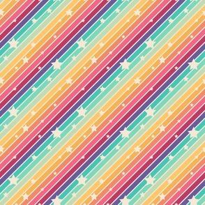 Rainbow stripes with stars