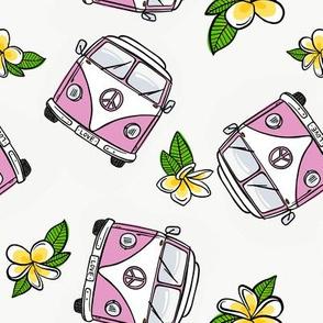 Pink VW Kombi