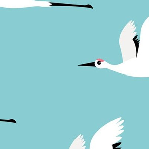 Summer is coming and so are the birds sweet Scandinavian minimal style crane bird flock boys blue jumbo