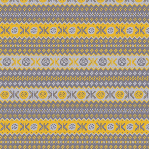 Granny's Fairisle - Yellow