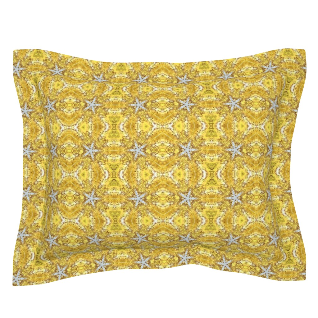 Sebright Pillow Sham featuring Golden Star by thepinkhome