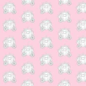 Cinderella's Coach Grey Variation- Pink Background