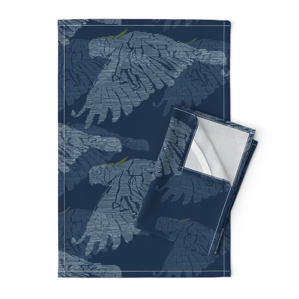 Orpington Tea Towels featuring Cockatoo Sky by patricia_braune