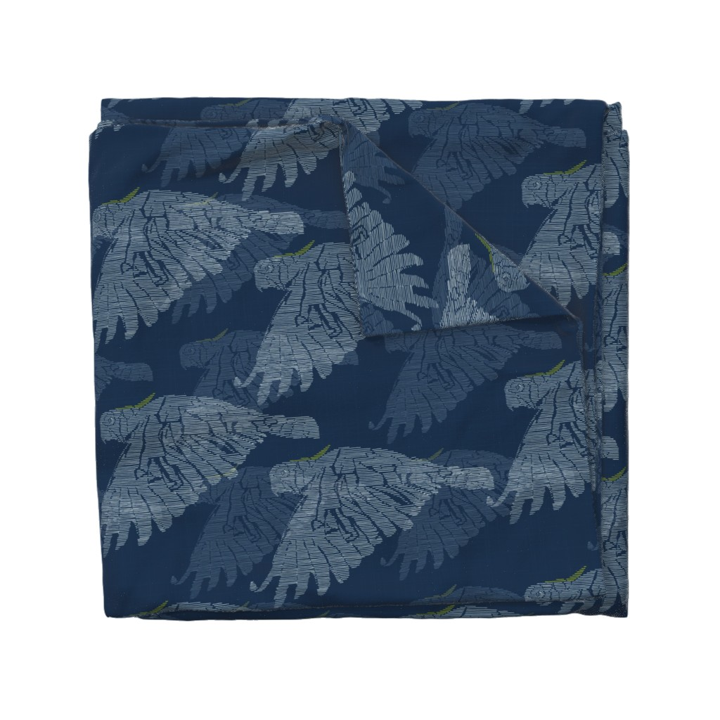 Wyandotte Duvet Cover featuring Cockatoo Sky by patricia_braune