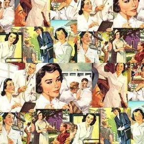 Retro Nurse Collage
