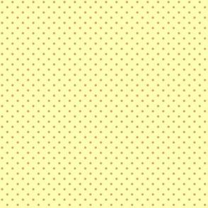 Orange polka dots for cockatiels