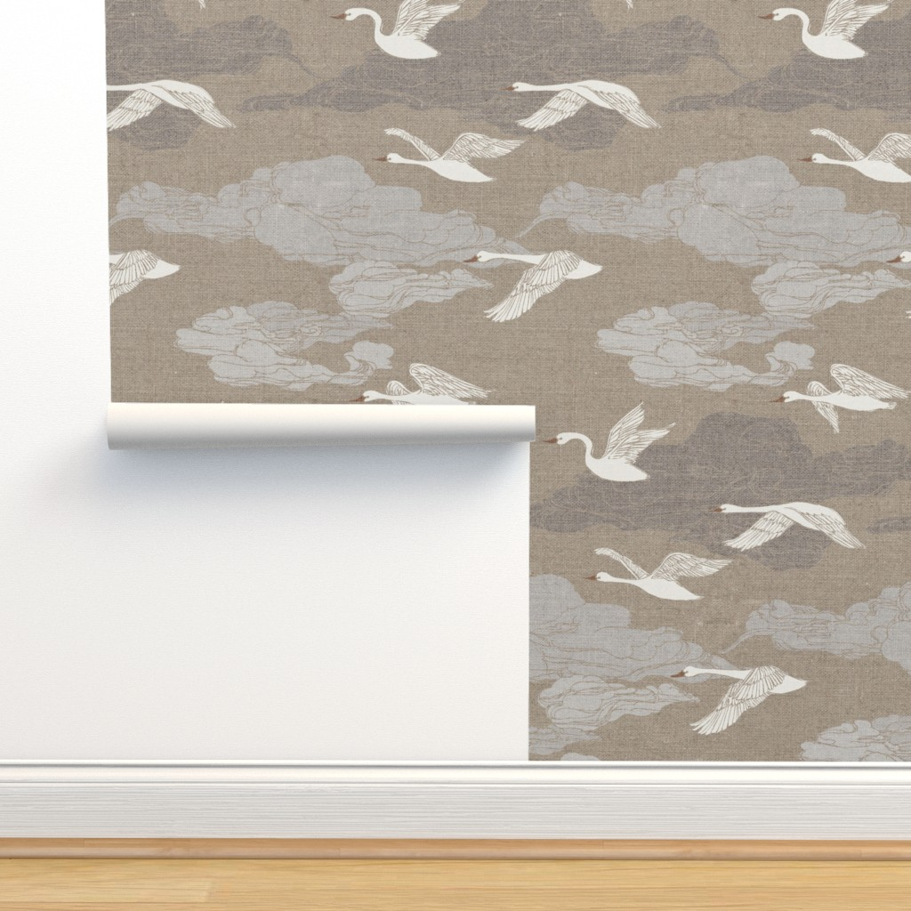 Isobar Durable Wallpaper featuring The Wild Swans by ceciliamok