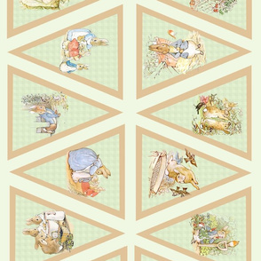Peter Rabbit Beatrix Potter Light Moss Green Bunting