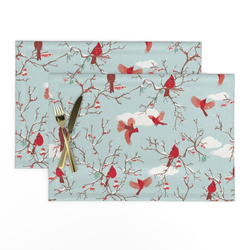 Lamona Cloth Placemats featuring Winter flights  by geetanjali