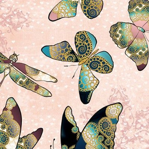 Fairytale Butterflies and Dragonfly 8