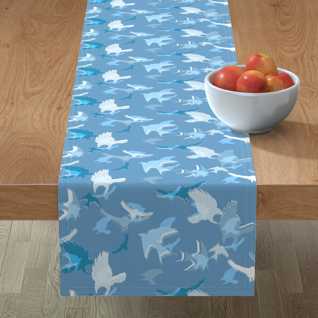 Minorca Table Runner featuring crowded sky  by variable
