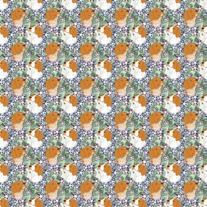 Floral French Brittany portraits - small