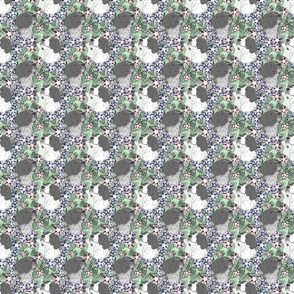 Floral French Brittany portraits B - small