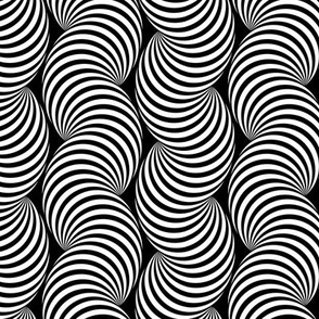 Striped Pipe Optical Illusion (Two-Way) - Black