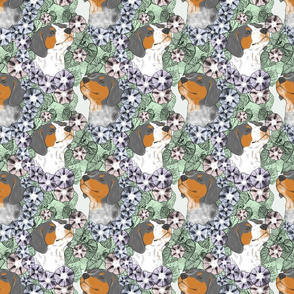 Floral French Brittany portraits D