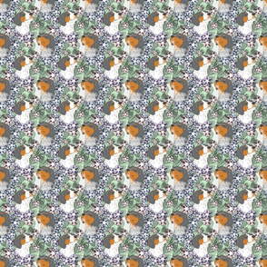 Floral French Brittany portraits D - small