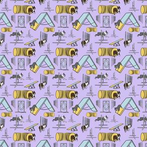 Small Simple Boston Terrier agility dogs - purple