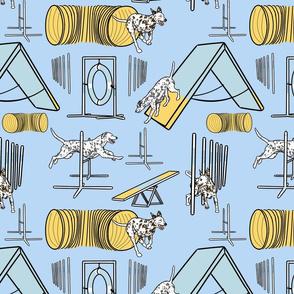 Simple Dalmatian agility dogs - blue