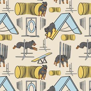 Simple Rottweiler agility dogs - tan