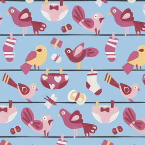 animals from the washing line