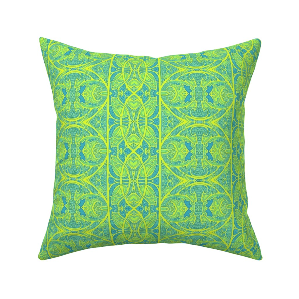 Catalan Throw Pillow featuring On a Bright Spring Day by edsel2084