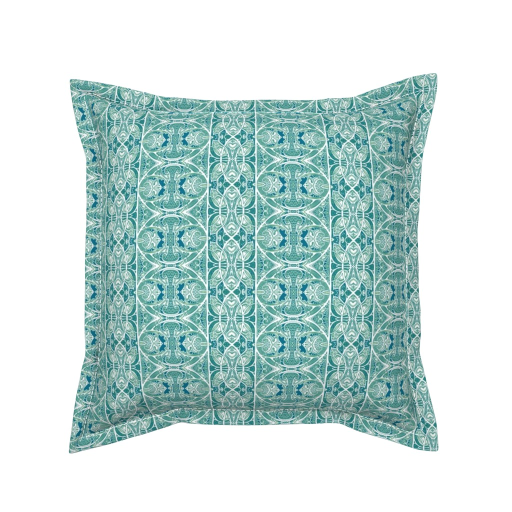 Serama Throw Pillow featuring Loop Da Loop Swoop by edsel2084