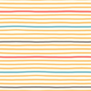 wavy stripes yellow