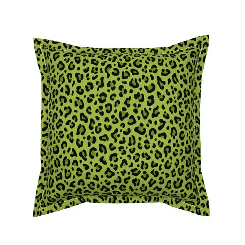 Leopard Blue Green Watercolor Animal Nursery Pillow Sham by Roostery