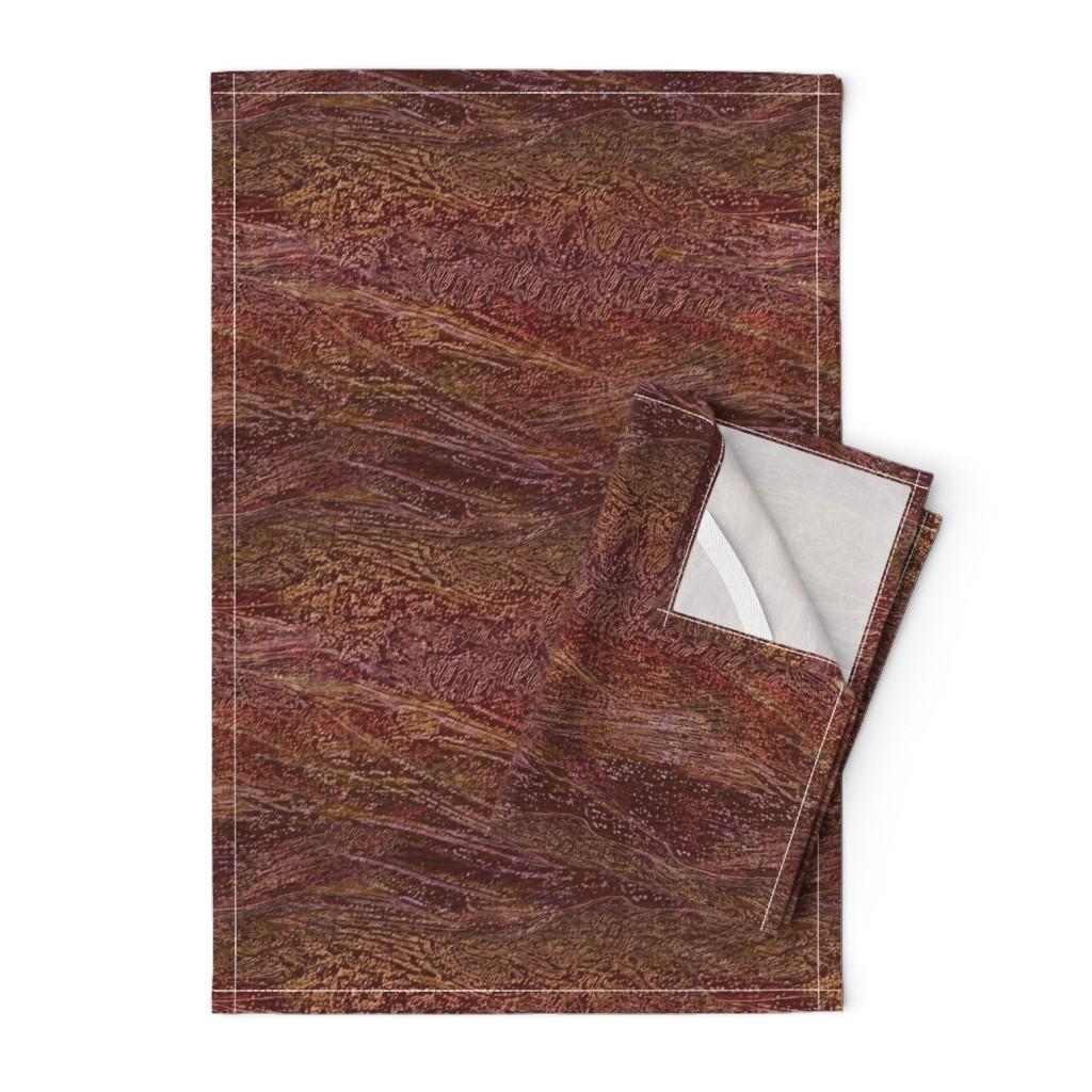 Orpington Tea Towels featuring galaxy-cherry-burgundy by wren_leyland