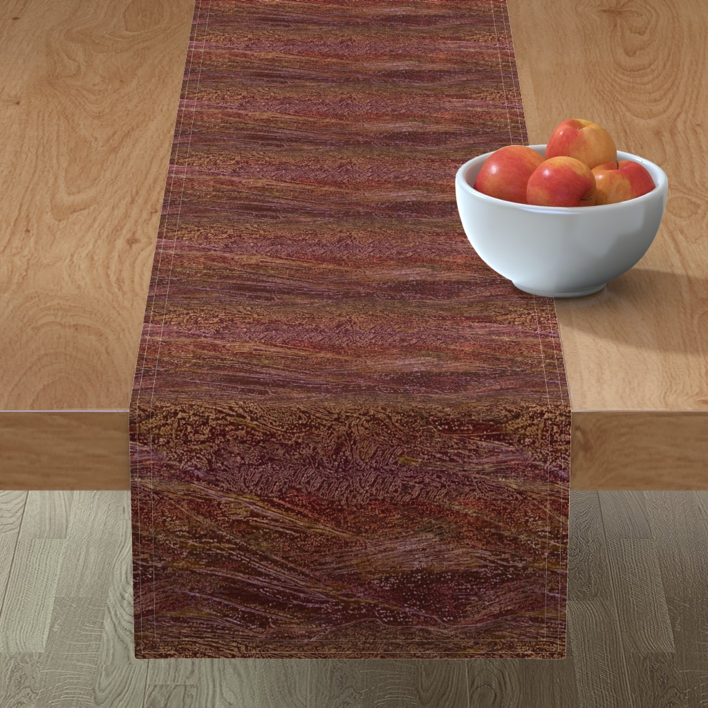 Minorca Table Runner featuring galaxy-cherry-burgundy by wren_leyland
