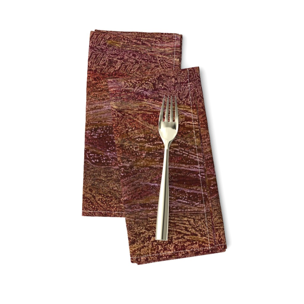 Amarela Dinner Napkins featuring galaxy-cherry-burgundy by wren_leyland